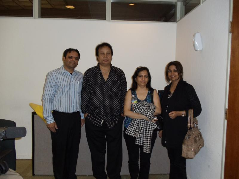 Bhupinder and Mitalee with Host Mukesh Vyas