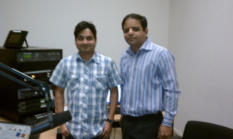 Nishant Asthana with Show Host Mukesh Vyas